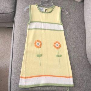 NWOT Zackali 4 kids yellow knit dress